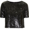 black sequin top - Majice - kratke -
