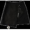 black skirt with heart detail - Skirts -