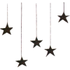 black stars hanging - Illustrations -