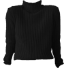 black turtleneck - 长袖衫/女式衬衫 -