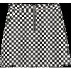 black & white checker mini skirt - Skirts -