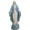 blue and white statue of the Madonna - Предметы -