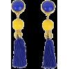 blue and yellow earrings - Earrings -