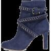 blue ankle boots - Čizme -