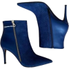 blue booties - ブーツ -