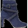blue boots - Čizme -