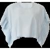 blue crop top - Shirts -