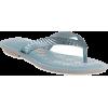 blue flip flops - Chancletas -