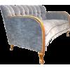 blue grey velvet 1930's sweeden sofa - Uncategorized -