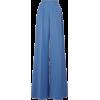 blue pants - Spodnie Capri -