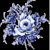 blue rose spray - Illustrations -