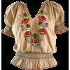 boho peasant blouse - Shirts -