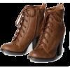 bota cadarço salto - Boots -