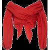 bow knot top - Koszule - krótkie -
