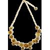 bronze flower necklace - Necklaces -