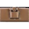 brown clutch - Borse con fibbia -