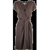 brown dress - Dresses -