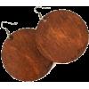 brown earrings - Earrings -