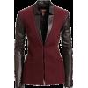 burgundy blazer1 - Marynarki -