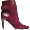 burgundy boots - Boots -
