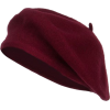 burgundy red beret - ハット -