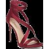 burgundy sandals - Sandały -