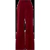 burgundy suede pants - Capri & Cropped -