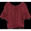 burgundy top - Košulje - kratke -