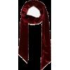burgundy velvet Zara scarf - Scarf -