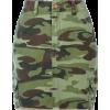 camouflage print skirt - Skirts -