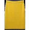 chartreuse skirt - Skirts -