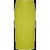 chartreuse skirt - Suknje -