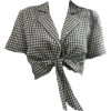 checked blouse - Shirts -