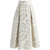 chicwish Golden Olive Jacquard skirt - Skirts -