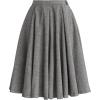 chicwish Twill A-line Panel Skirt - Skirts -