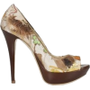 chocolate heels - Platformke -