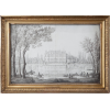 circa 1780s chateau pencil sketch French - Meble -