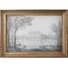 circa 1780s chateau pencil sketch French - Furniture -