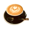 coffee cappuccino heart  - Beverage -