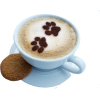 coffee cappuccino paw prints cookie - 饮料 -