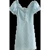 collar wave lace short sleeve dress - sukienki - $27.99  ~ 24.04€