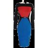 color block dress - sukienki -