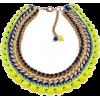 colorful statement necklace - Ogrlice -