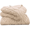 cream cable knit throw - Predmeti -