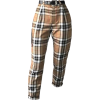 cream plaid pants - Jeans -