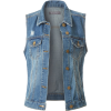 crop denim vest - Jacket - coats -