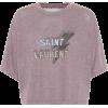 cropped purple saint laurent tee - Magliette -