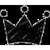 crown black doodle - Illustrations -