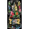 dark floral dress - Платья -