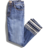 decorative embroidered jeans - Dżinsy -